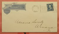 1896 STANLEY CO WHOLESALE FRUITS ADVERTISING CHICAGO IL FLAG CANCEL