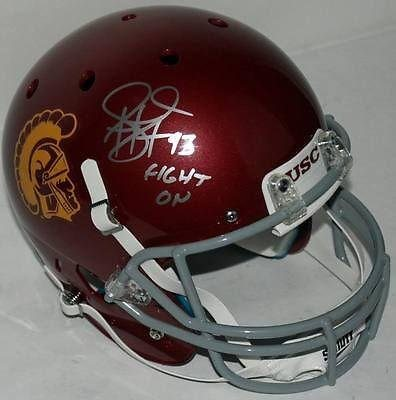 los angeles 14d74 44752 Usc Troy Polamalu 'Fight On' Signed Full Size Rep Schutt Helmet ITP -  PSA/DNA Certified - Autographed College Helmets