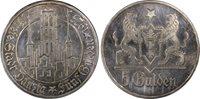 Danzig 5 Gulden Silver 1923-No MM