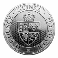2018 St Helena 1 oz Silver £1 Spade Guinea Shield Coin in direct fit capsule