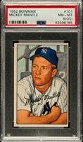 1952 Bowman MICKEY MANTLE New York Yankees PSA 8 OC