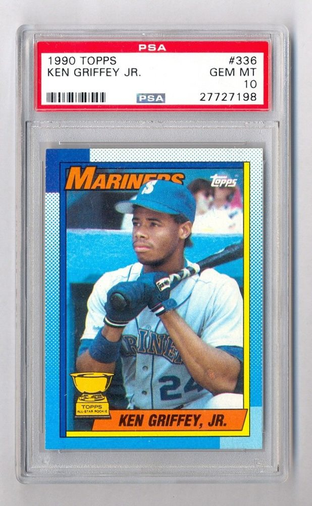 Ken Griffey Jr 1990 Topps 336 Rookie Rc Psa 10 Gem Mint Hof Seattle Mariners