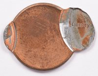 1c Lincoln Cent Double-Struck 93% Off-Center and 96% Off-Center UNC Red/Brown