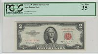 Red Seal $2 1953C STAR PCGS currency Graded vf 35