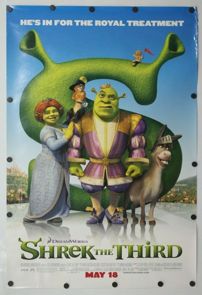 Shrek The Third 2007 Double Sided Original Movie Poster