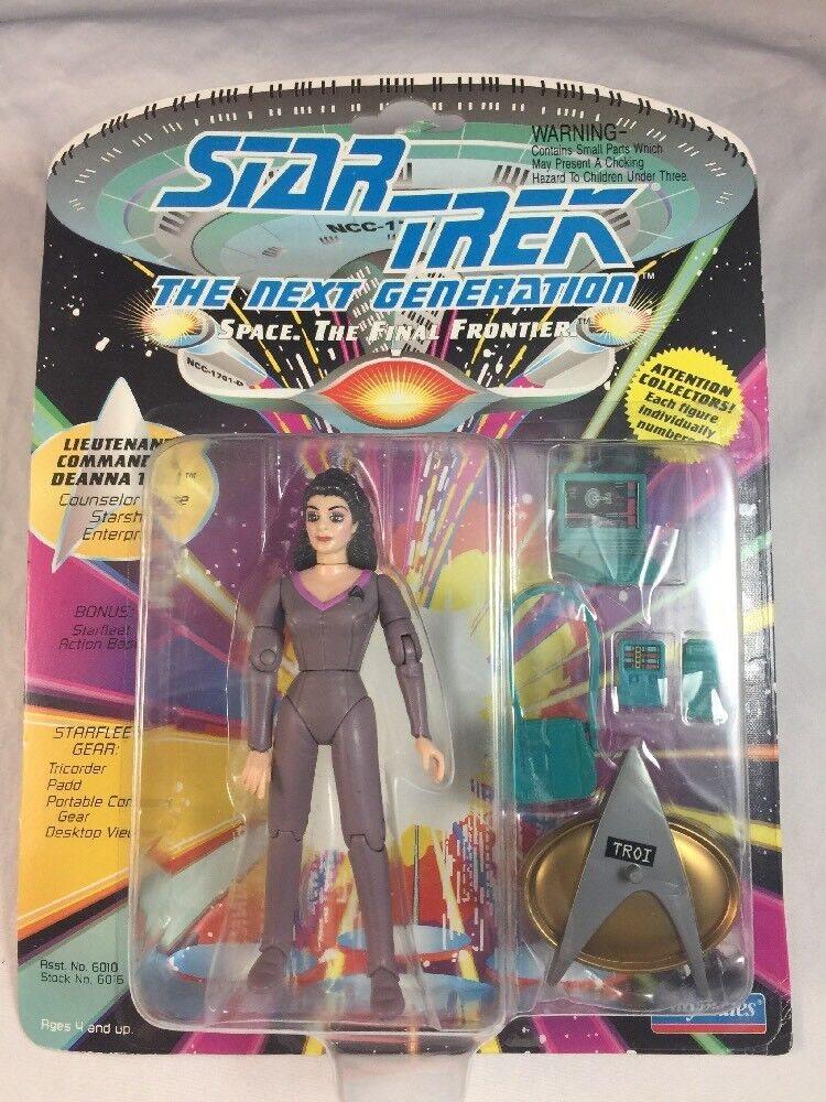 Playmates Star Trek Next Generation Counselor Deanna Troi figure New!
