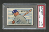 1951 bowman #253 mickey mantle hof rc psa 8; only 9 higher