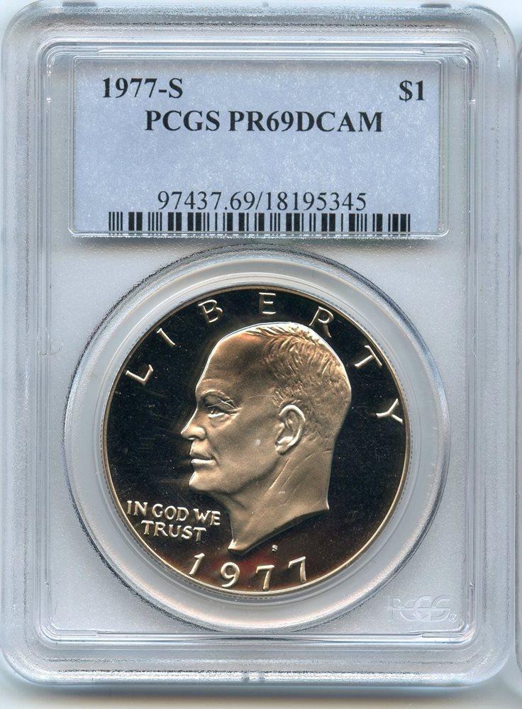 1977-S Clad Eisenhower Dollar PCGS PR69DCAM! Wonderful quality specimens !!