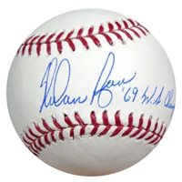 Signed Nolan Ryan Autographed Official MLB Baseball New York Mets 69 WS Champs - PSA/DNA CertifiedCUSTOM FRAME YOUR JERSEY