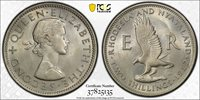 British Rhodesia, 1957 Elizabeth II Two Shillings. PCGS MS 65. 2 Shillings.