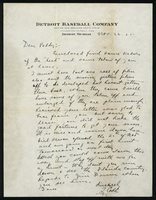 1925 Ty Cobb handwritten and signed letter PSA/DNA