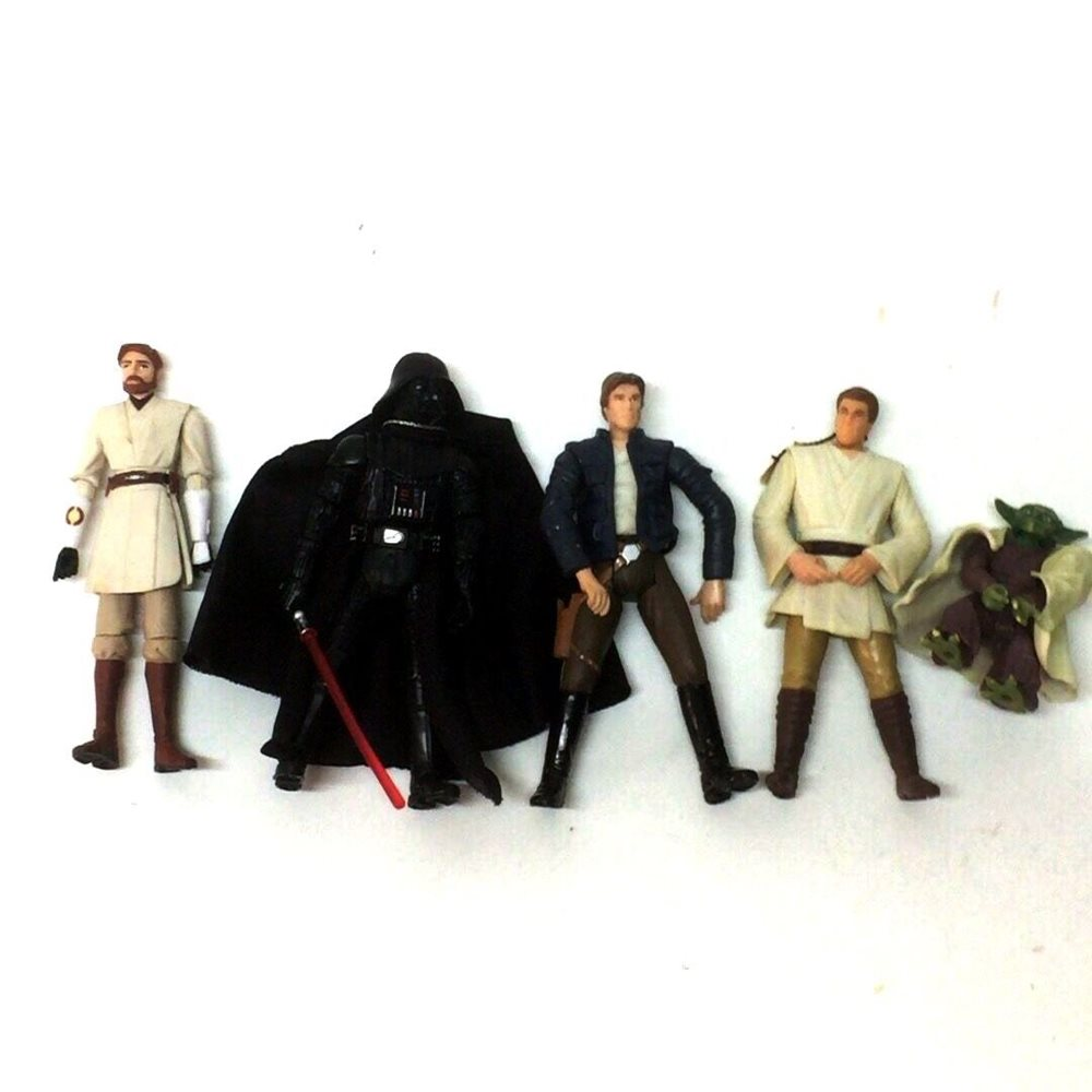 "4x Star Wars  Darth Maul YODA KENOBI OBIWAN 3.75/"" Action Figures Boys Toy"
