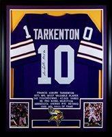 buy popular f2bd4 0dc2f Fran Tarkenton Framed Stat Jersey Signed JSA COA Autographed Minnesota  Vikings
