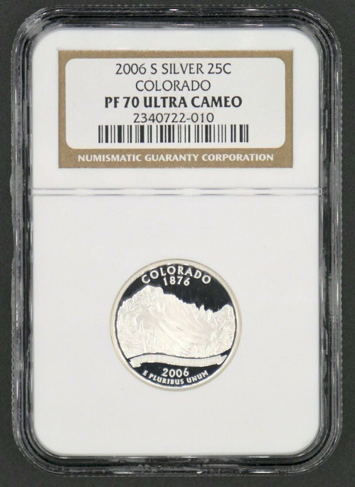 2006-S COLORADO CLAD PROOF QUARTER 25c NGC PF70 ULTRA CAMEO