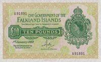 10 Pounds 01 1 1982 Falkland-island Pick 11b