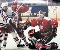 Washington Capitals Caps Olaf Olie The Goalie Kolzig Autographed Red Jersey