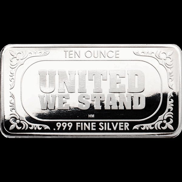 Flag Design Highland Mint Silver Bar 10 oz .999 Fine