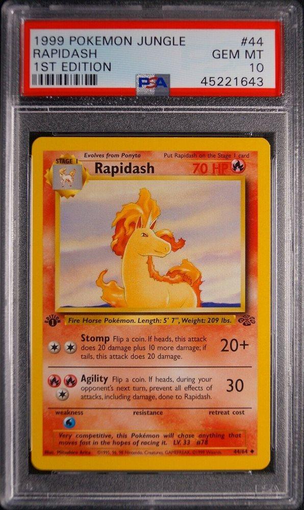 Rapidash 44//64 Jungle Pokemon Card HP Cond *