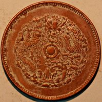 China 10 Cash Chekiang-Province Copper Kuang-hsu Yuan-pao Dragon UNC Detail R314