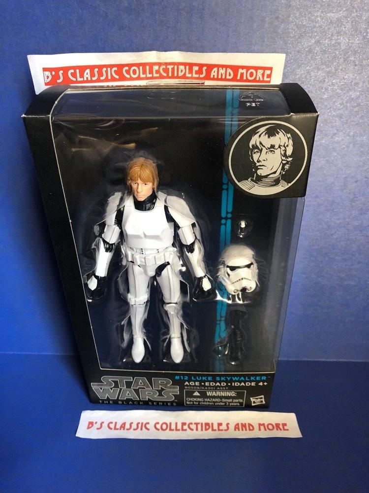 """STAR WARS black series Luke Skywalker Stormtrooper Disguise 6/"""" Action Figure #12"""