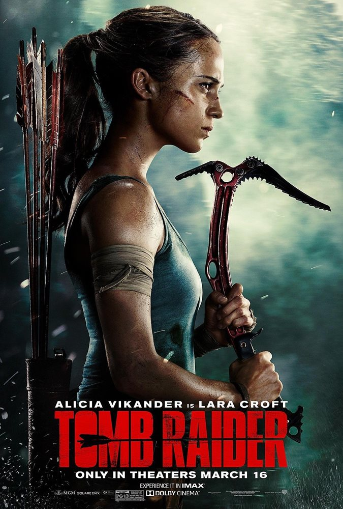 Tomb Raider Movie Poster Lara Croft Alicia Vikander Wal