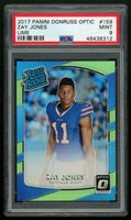 ZAY JONES 2017 Panini Donruss Optic RC LIME HOLO ~ PSA 9 MINT Buffalo Bills