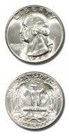 USA Washington Quarter 25c 1946 D BU Great Luster