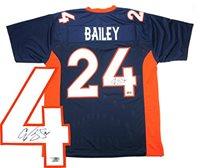 best service d9855 d09fe Signed Champ Bailey Jersey - Custom Navy Blue - Autographed NFL Jerseys