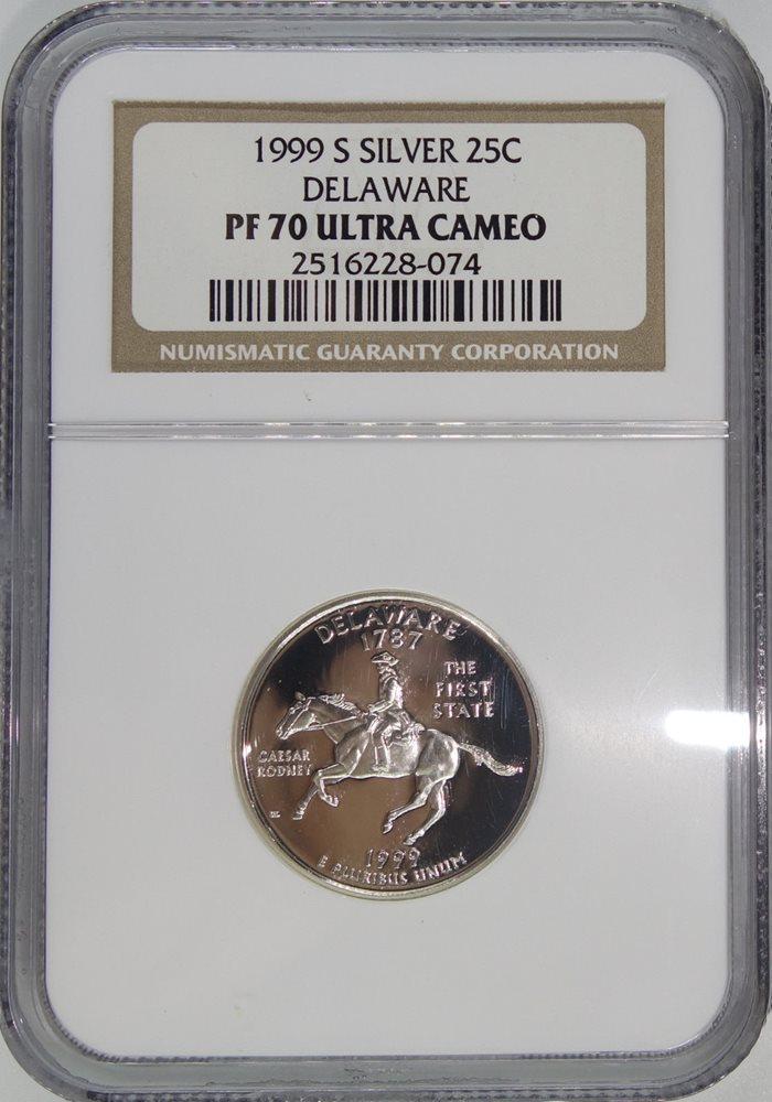 1999 Delaware S State Quarter Proof