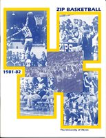1981 - 1982 Akron basketball media guide bkbx17a