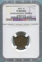 1875 P Indian Head Cent Cent VF Details NGC