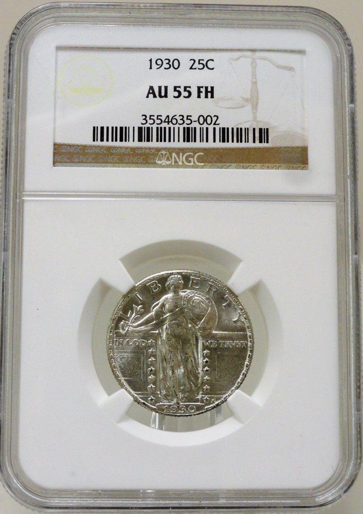 1930-P Standing Liberty Silver Quarter PCGS AU55