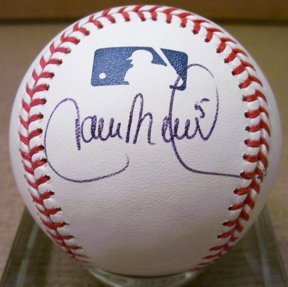 Carlos Beltran Autographed Ml Baseball Psa Dna