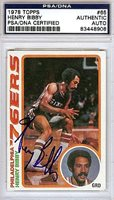Henry Bibby Autographed Signed 1978 Topps Card #65 - PSA/DNA CertifiedCUSTOM FRAME YOUR JERSEY