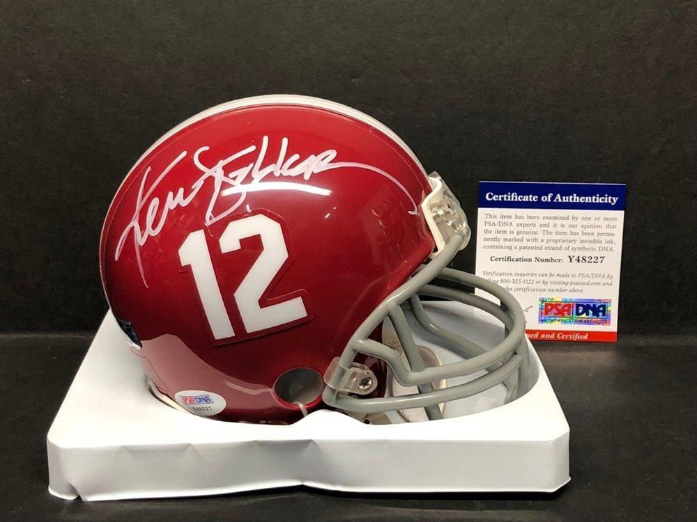 check out 78499 fe2c3 Ken Stabler Autographed Signed Alabama Crimson Tide Football Mini -Helmet  Raiders Memorabilia - PSA/DNA AuthenticCUSTOM FRAME YOUR JERSEY