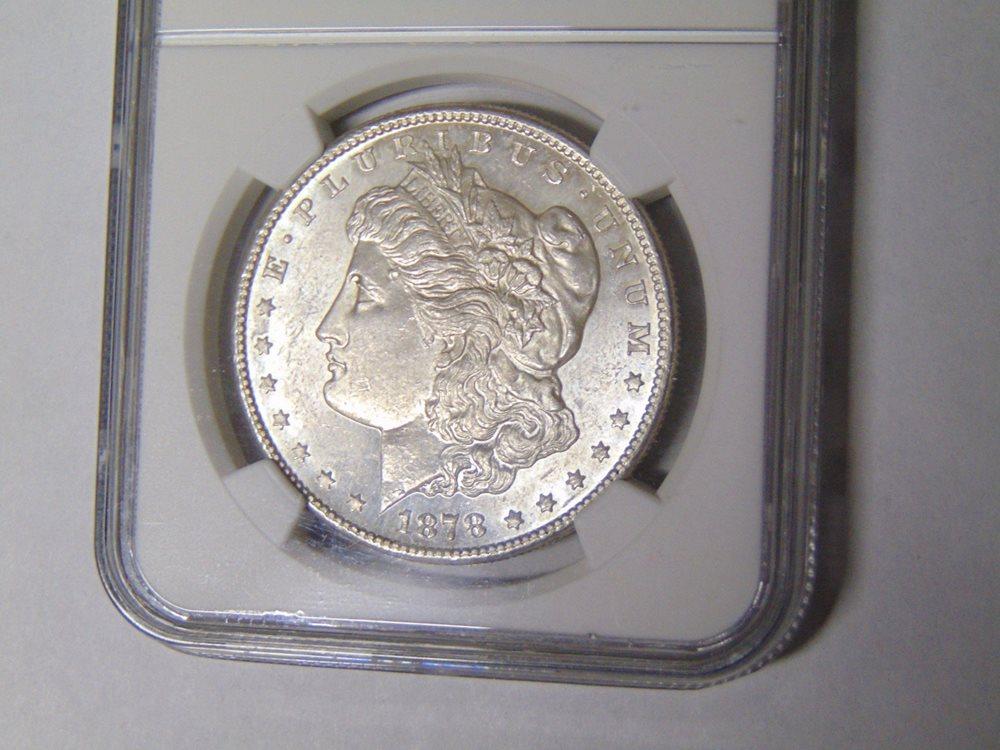 NGC MS63 1878-S US Morgan Silver Dollar $1