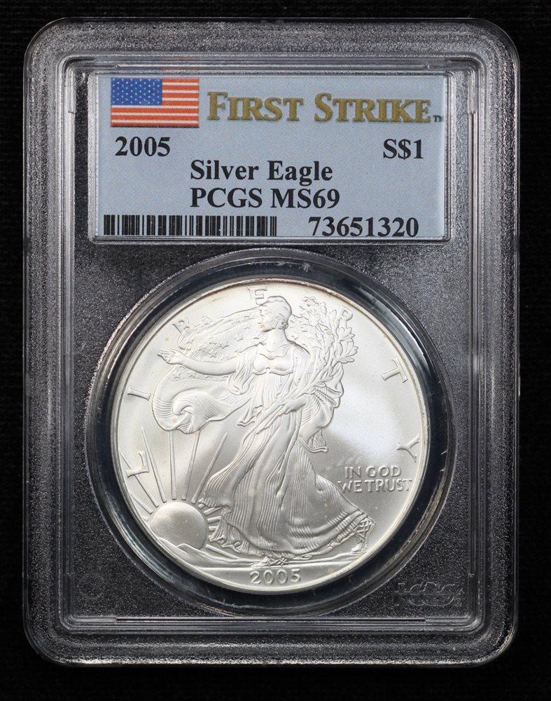 2008 W American Silver Eagle $1 MS69 PCGS