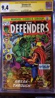 The Defenders 10 CGC SS 9.4 John Romita Marvel Comics Hulk vs Thor