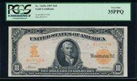 AC Fr 1169a 1907 $10 Gold Certificate PCGS 35 PPQ