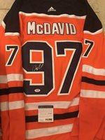 detailed look 17716 ced46 Connor Mcdavid Autographed Signed Edmonton Oilers Jersey PSA/DNA Coa -  Authentic MemorabiliaCUSTOM FRAME YOUR JERSEY