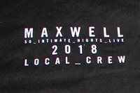 Maxwell 2018 50 Intimate Nights Tour Local Crew T-shirt XL