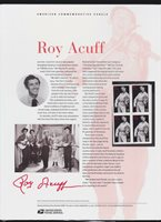US USPS American Commemorative Stamp Panel #693 (37c) Roy Acuff #3812