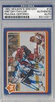 Wayne Gretzky & Billy Taylor Signed 1982 Neilson's Card #14 - PSA/DNA Authenticated - NHL Hockey Cards
