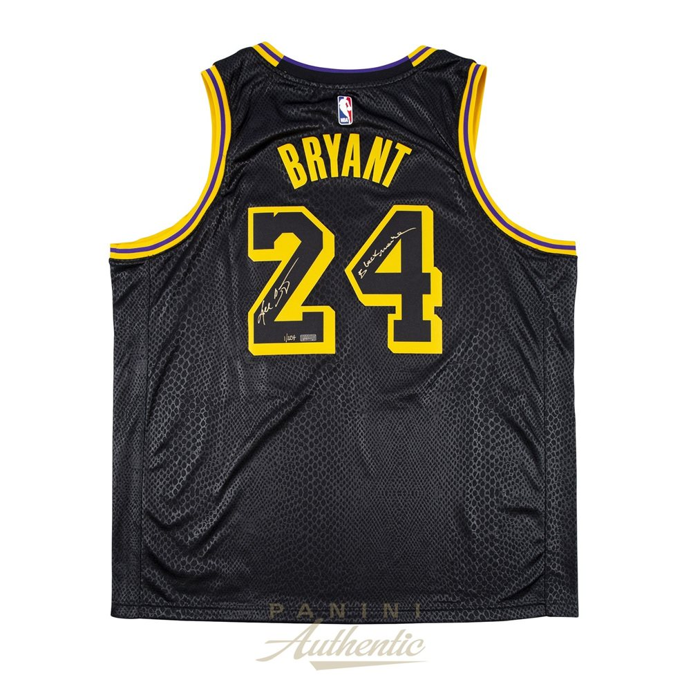 release date: a7c30 0ad7a Kobe Bryant Autographed Nike City Edition Black Swingman Jersey with