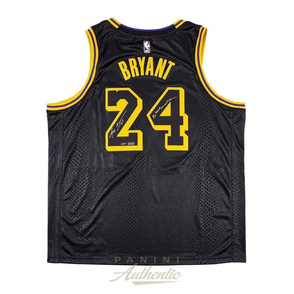Kobe Bryant Autographed Nike City Edition Black Swingman Jersey ...