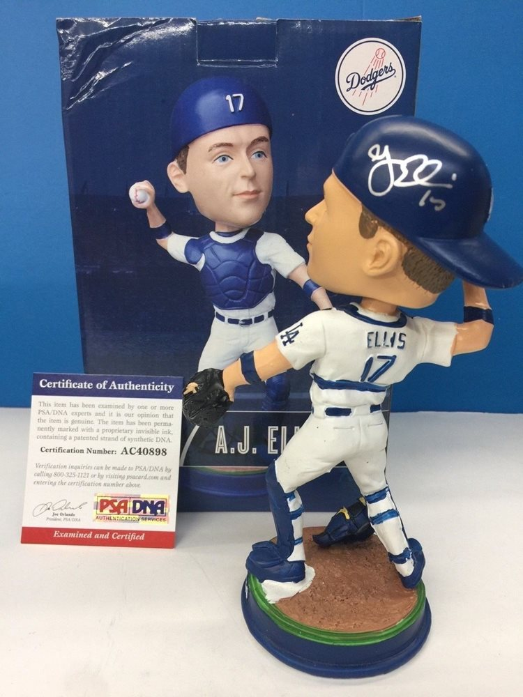 Aj Ellis Autographed Signed Bobblehead Dodgers Sga PSA/DNA AuthenticCUSTOM FRAME YOUR JERSEY