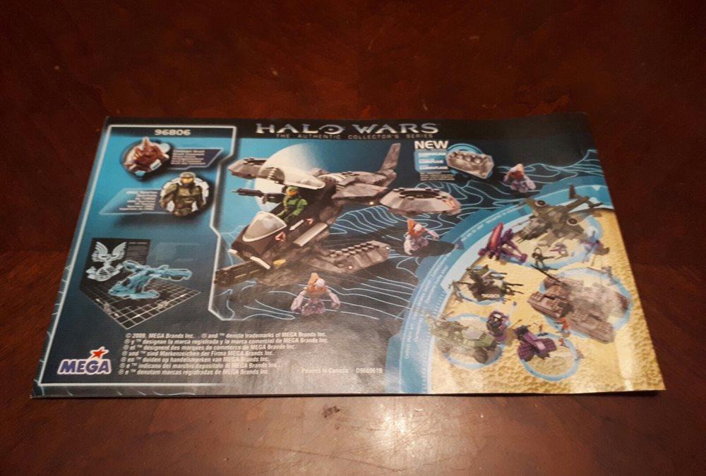Mega Bloks Halo Wars Instructions Booklet For 96806 U