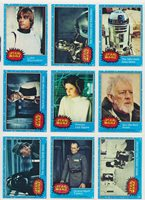 e819121ed7e 1977 Star Wars TOPPS Series 1 Complete 66 Blue Card Set