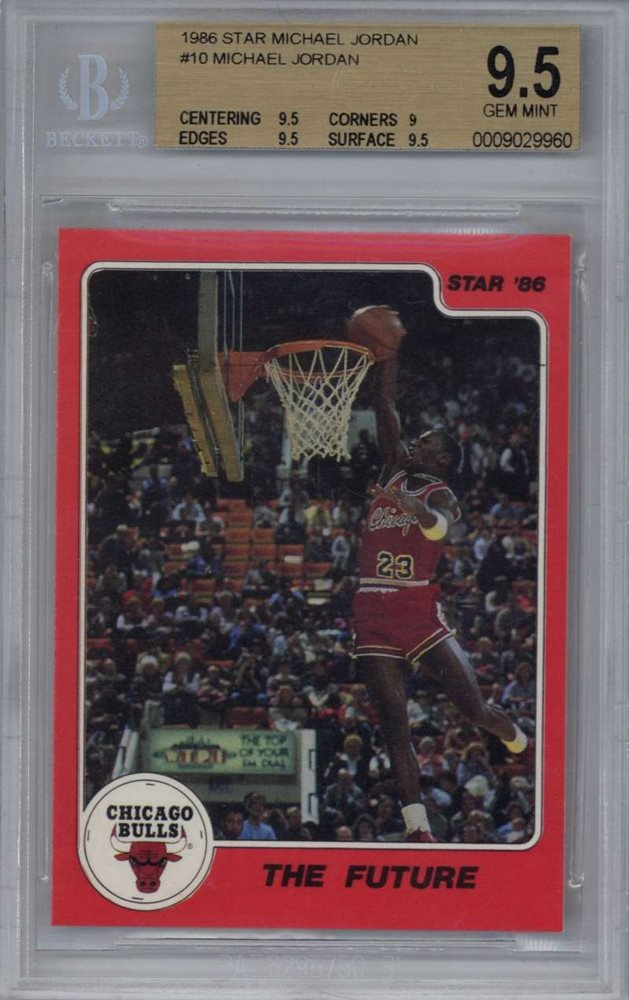1986 Star Michael Jordan 10 Rc Rookie Card Basketball Bgs 95 Chicago Bulls Nba