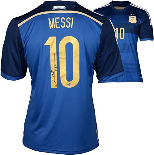 newest 46575 64816 Lionel Messi Argentina Autographed Blue Jersey - Fanatics Authentic  Certified - Autographed Soccer Jerseys